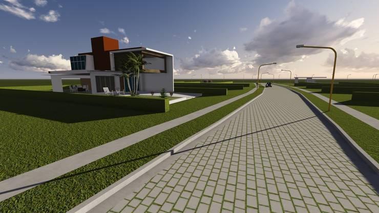 ANTEPROYECTO TIERRAS DE ROMAN (3D): Casas de estilo  por Proyectistas Ingenieros Civiles Romero Gonzalo J. y Batalla Dino I. ,