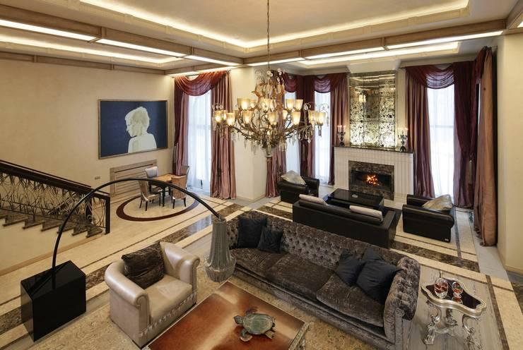 Living room by Архитектурное бюро 'Дом-А'