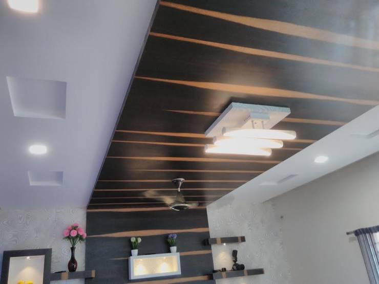 False Ceiling:  Walls by Chavadi Interiors