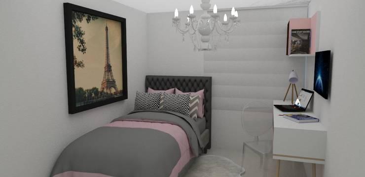 Habitacion glamour : Habitaciones de estilo  por Naromi  Design