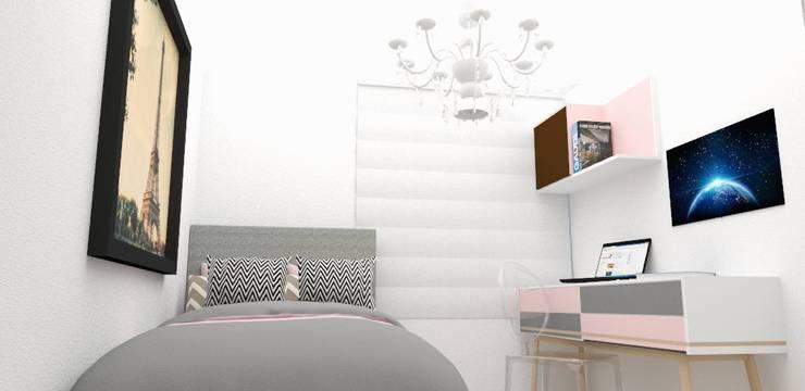 Habitación glamour: Habitaciones de estilo  por Naromi  Design