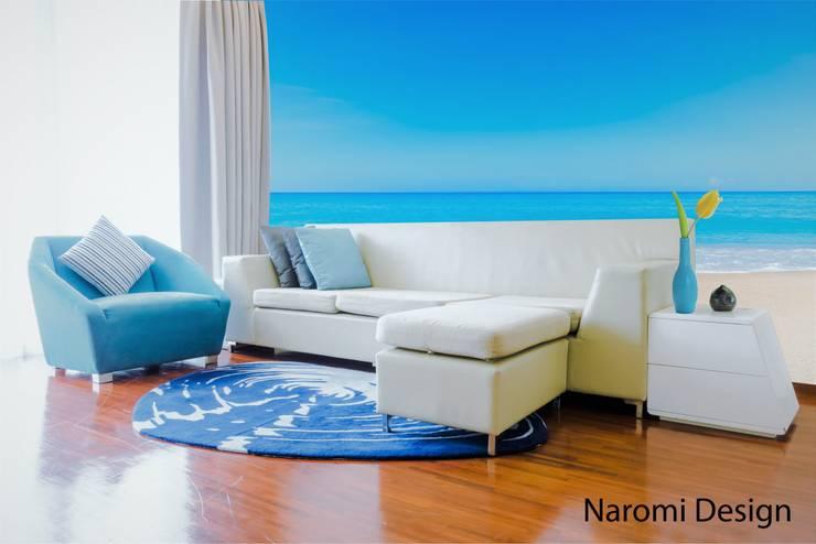 Sala Playera : Salas de estilo  por Naromi  Design