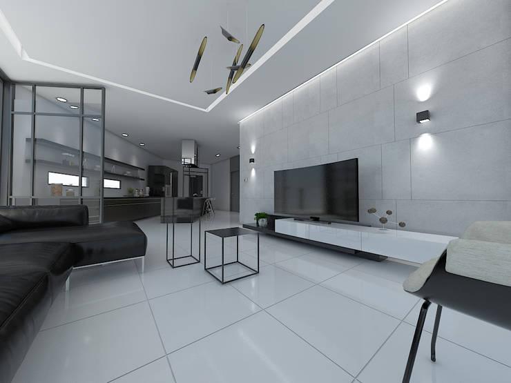 주상복합건물-충청남도 논산시 L씨: 디자인 이업의  거실