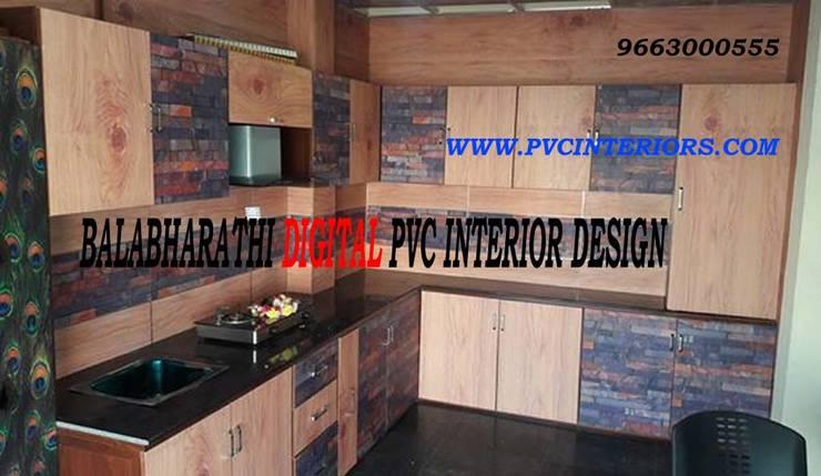 Digital Modular Kitchen In Erode - BalaBharathi 9663000555:  Kitchen by balabharathi pvc interior design