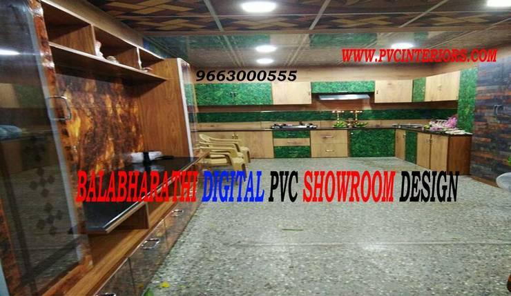 Digital pvc interior Digital cupboard design Digital kitchen cabinets 9663000555:  Kitchen by balabharathi pvc interior design
