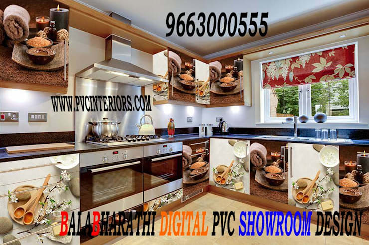 pvc moudlar kitchen in perundurai pvc wardrobe in karur -9663000555:  Bedroom by balabharathi pvc interior design