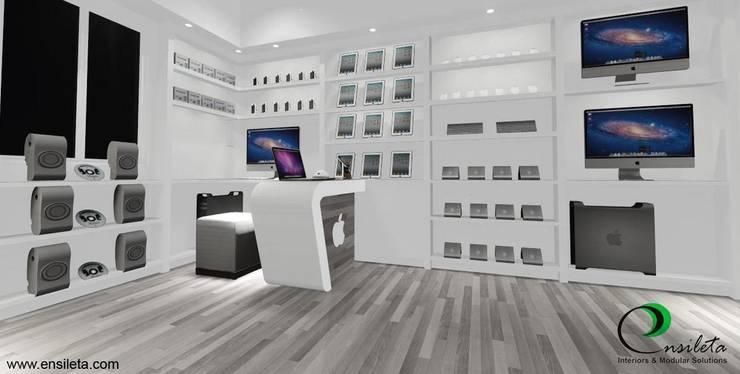 Office Interior Design: modern  by Ensileta Interiors and Modular Solutions,Modern