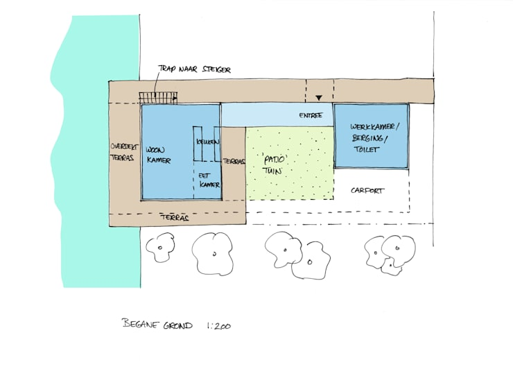 Nieuwbouw vrijstaande woning Dordrecht: modern  door studio architecture, Modern
