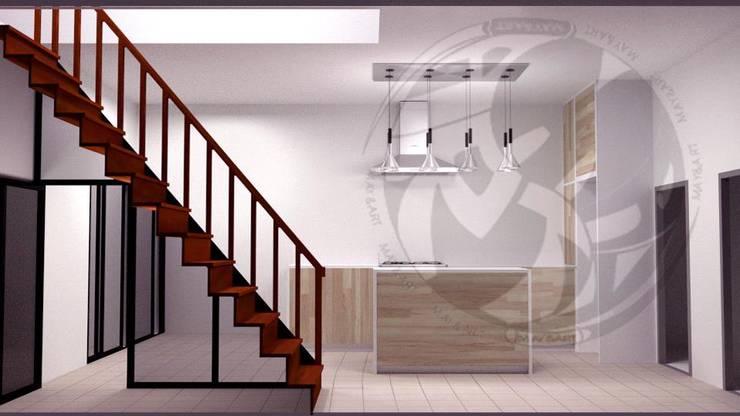 ออกแบบ 3d ห้องครัวไอแลนด์ :  ห้องครัว by mayartstyle