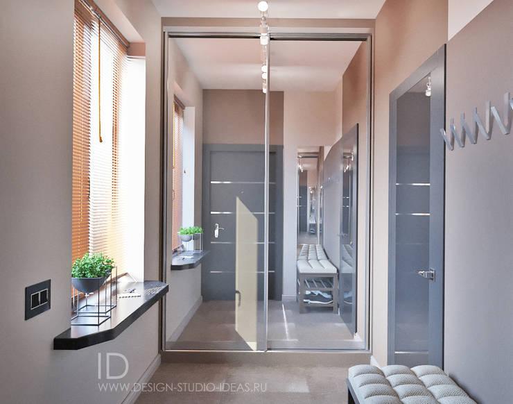 Прихожая в двухэтажном доме в стиле лофт: Коридор и прихожая в . Автор – Студия дизайна Interior Design IDEAS
