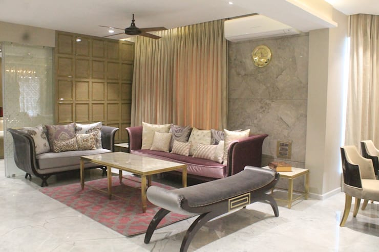 ETHNIC TOUCHE: asian Living room by MIDAS DESIGN STUDIO