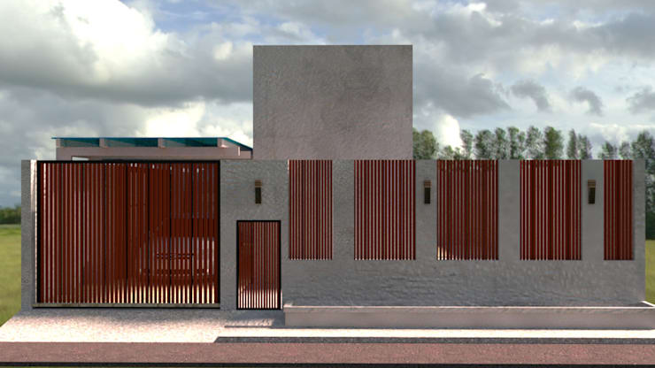 ออกแบบ 3d บ้าน 3 ชั้นให้ลูกค้า style ioft:  บ้านและที่อยู่อาศัย by mayartstyle