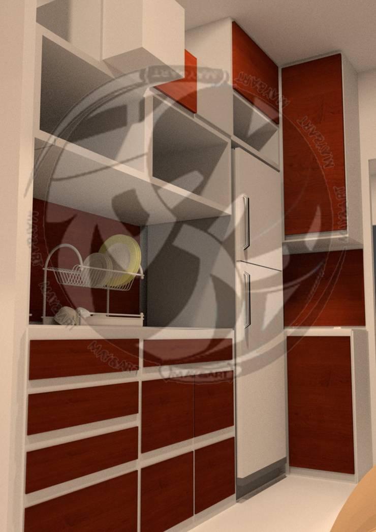 ออกแบบ 3d    style modern:  ห้องครัว by mayartstyle