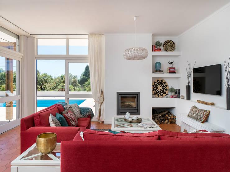 sala: Sala de estar  por Zenaida Lima Fotografia