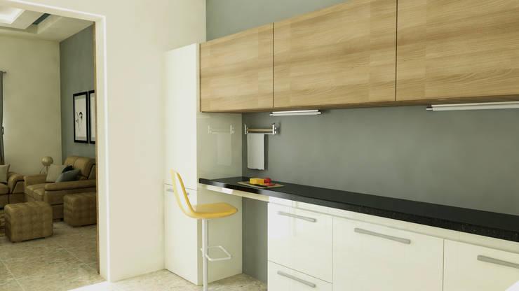 residence interior design:  Kitchen by Artist Inside,Modern Plywood