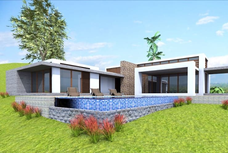 CASA 10 Casas modernas de Elite Arquitectura y Asoc. SAS. Moderno Ladrillos