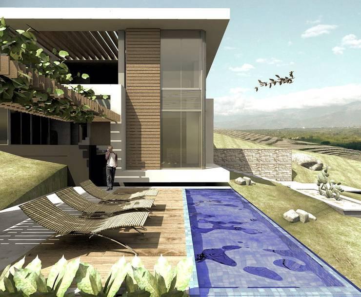 Modern houses by Elite Arquitectura y Asoc. SAS. Modern Iron/Steel