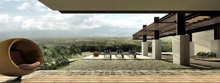 CASA H-9: Casas de estilo  por Elite Arquitectura y Asoc. SAS.