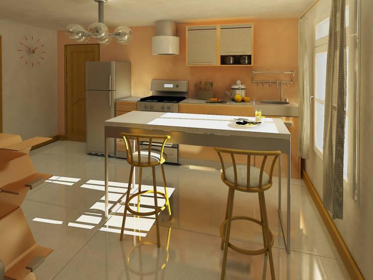 PH con entrepiso: Cocinas de estilo  por Pick Interiores,