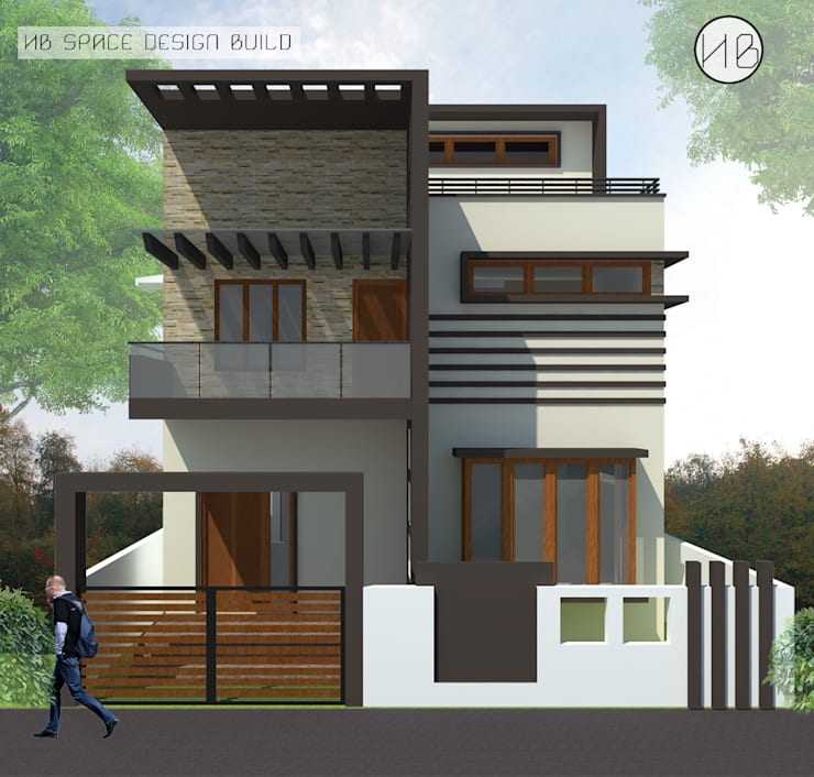 Mrs Prema residence:   by HB Space Design Build