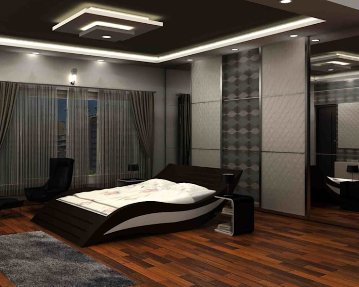 Bedroom design:   by SAHHA architecture & interiors