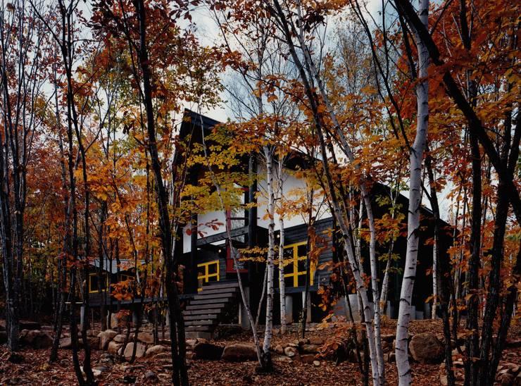 南東外観: 株式会社ラウムアソシエイツ一級建築士事務所が手掛けた家です。