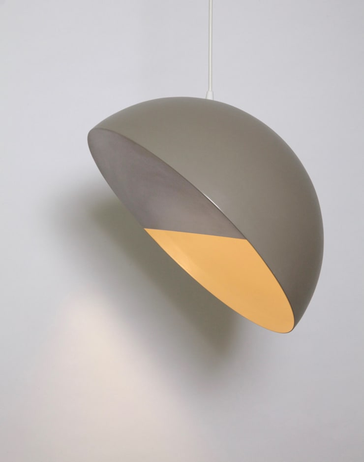 "Crescent lamp 18"" diametro de Natural Urbano Moderno Metal"