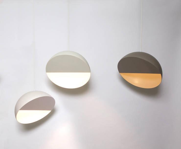 "Crescent lamp 14"" diametro de Natural Urbano Moderno Metal"