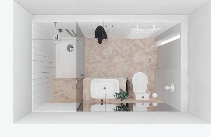 Proposta de reabilitação - wc: Casas de banho  por Esfera de Imagens Lda