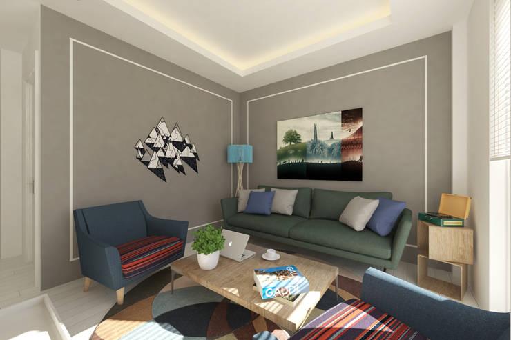 modern Living room تنفيذ BEA Mimarlık İnşaat Limited Şirketi