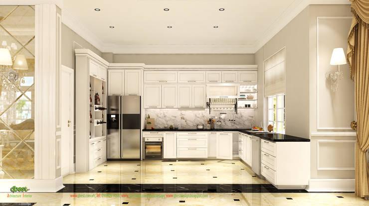 Không gian bếp:  Kitchen by Công ty TNHH Thiết Kế và Ứng Dụng QBEST