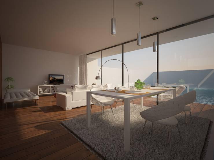 Living room by Pedro Palma Arquiteto,
