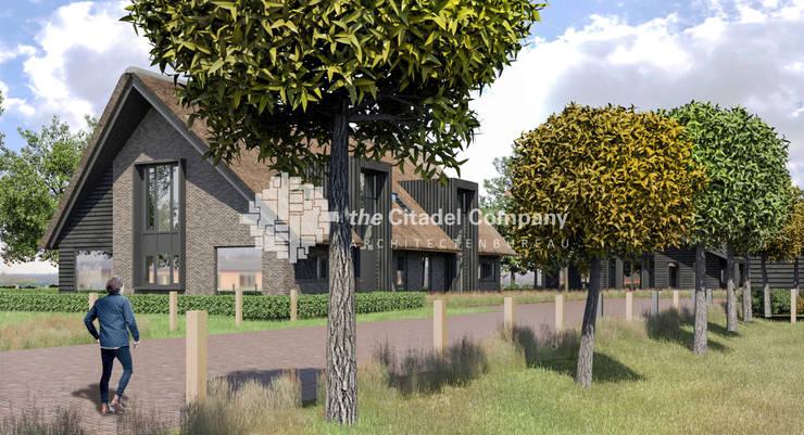 Boerenerf 'De Vosser Esch' - Woning 1:  Huizen door Architectenbureau The Citadel Company, Landelijk