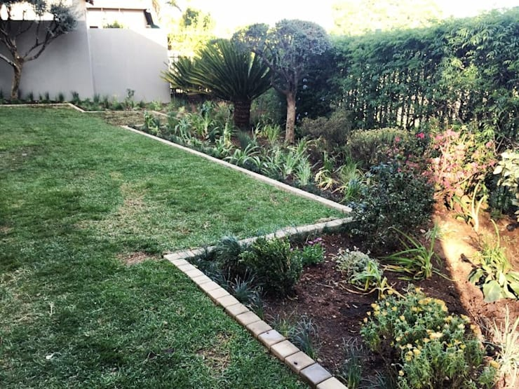 Clean lines for garden revamp:  Garden by Acton Gardens