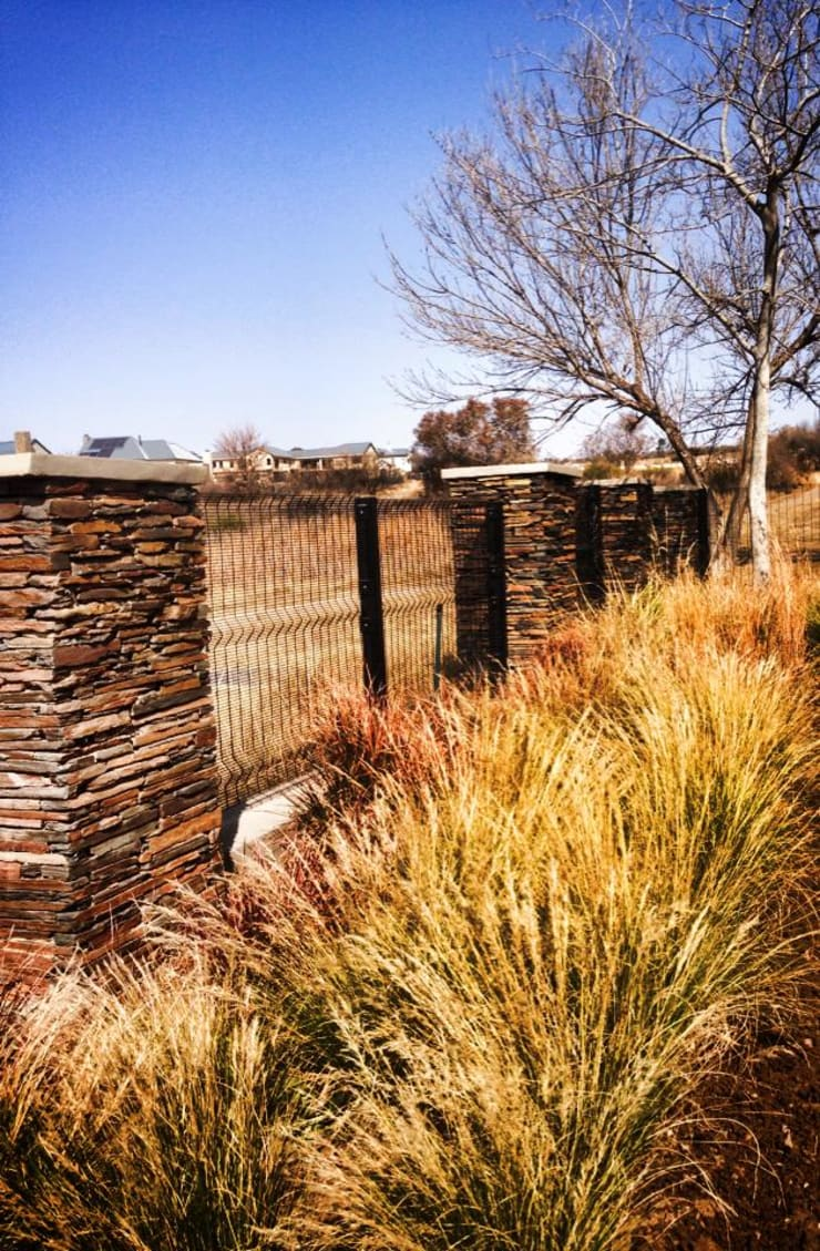 Framing the view with soft grasses:  Garden by Acton Gardens