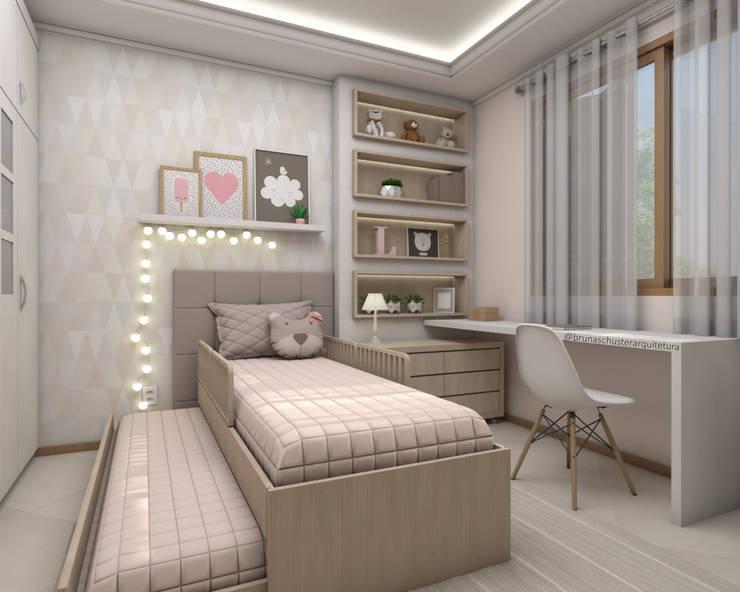 غرفة الاطفال تنفيذ Bruna Schuster Arquitetura & Interiores