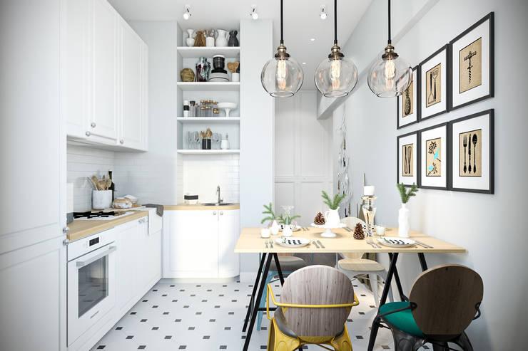 مطبخ تنفيذ Студия архитектуры и дизайна Дарьи Ельниковой