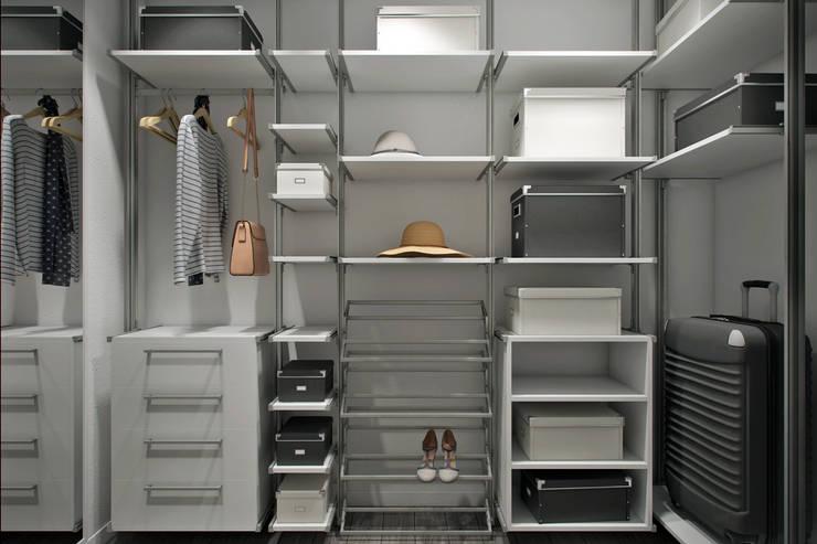 Vestidores y closets de estilo moderno por Студия архитектуры и дизайна Дарьи Ельниковой