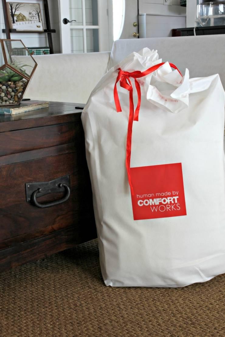 Replacement custom slipcovers: IKEA Ekeskog sofa:  Living room by Comfort Works Custom Slipcovers
