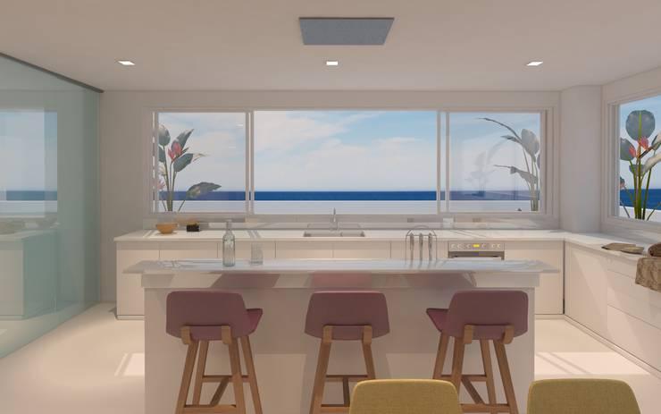 barra: Cocinas de estilo  por Isabel Bautista Design