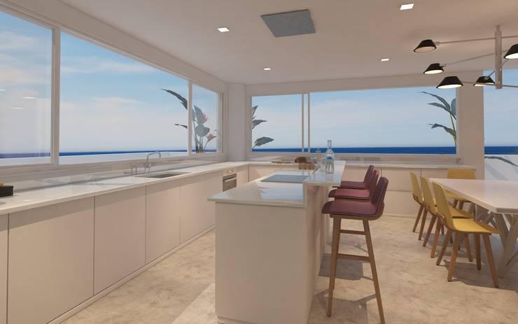 Vista e la cocina minimalista 1: Cocinas de estilo  por Isabel Bautista Design