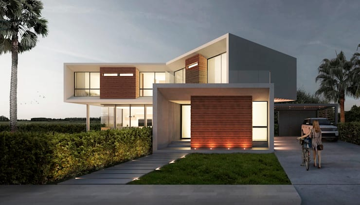 Casa MDZ: Casas de estilo minimalista por del castillo schiffino *  |  dCS*