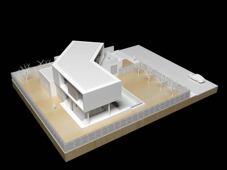 Modelo: Casas de estilo minimalista por del castillo schiffino *  |  dCS*