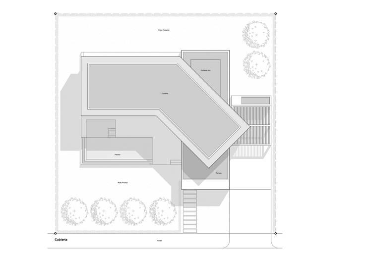 Cubiertas: Casas de estilo minimalista por del castillo schiffino *  |  dCS*