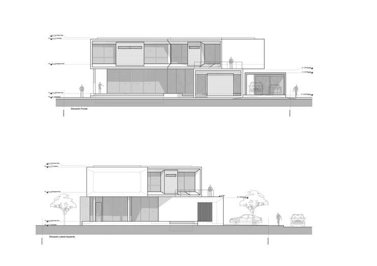 Elevaciones: Casas de estilo minimalista por del castillo schiffino *  |  dCS*