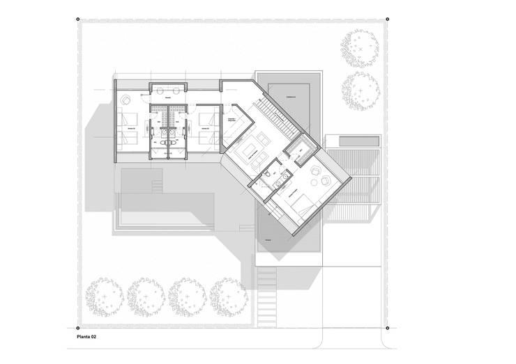 Planta 02: Casas de estilo minimalista por del castillo schiffino *  |  dCS*