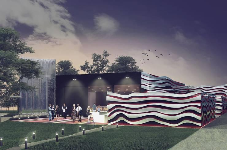 Lugares para eventos de estilo  por PEI arquitectura, Moderno