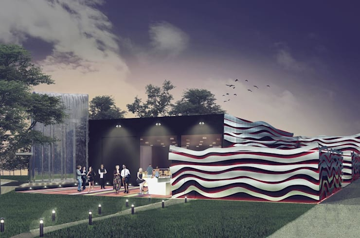 Salón de Eventos: Salas de eventos de estilo  por PEI arquitectura,