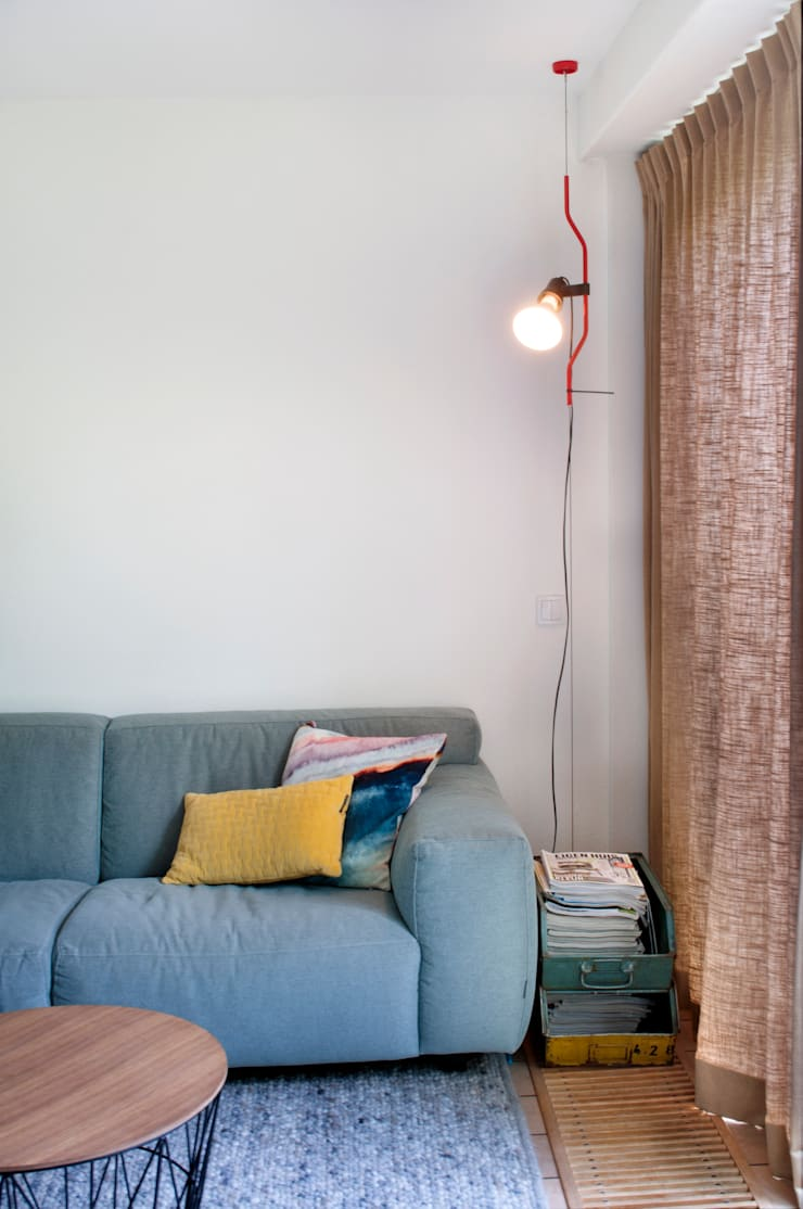 loungebank :  Woonkamer door IJzersterk interieurontwerp