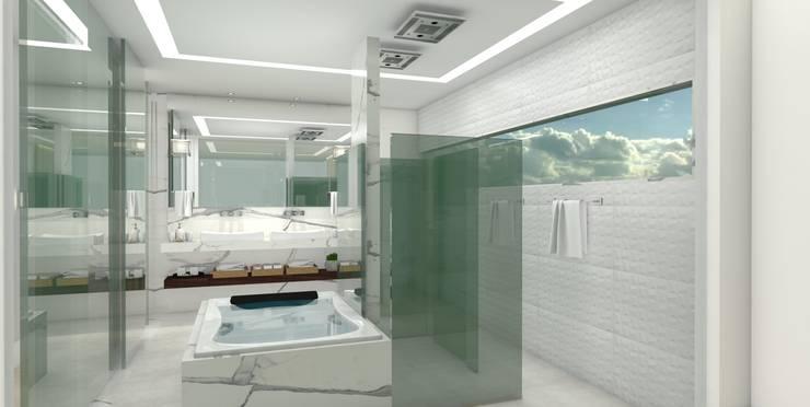 Scandinavian style bathroom by Matos Xavier Arquitetura Scandinavian